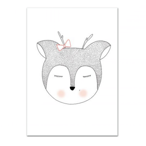 Lauren Smallfield - Miss Deer Print