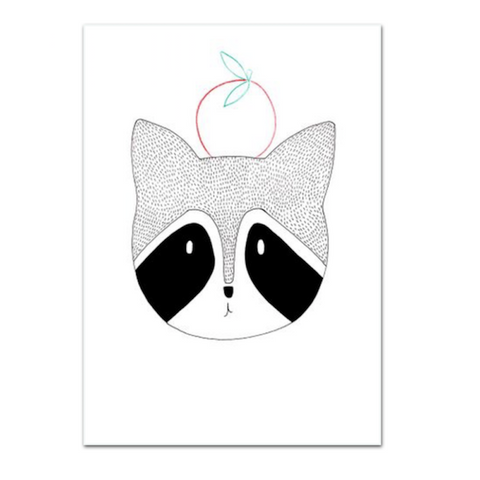 Lauren Smallfield - Mr Raccoon Print