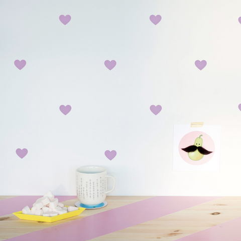 Made of Sundays - Lavender Heart Decals