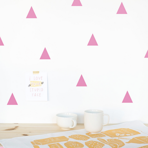 Made of Sundays - Pink Triangle Wall Decals