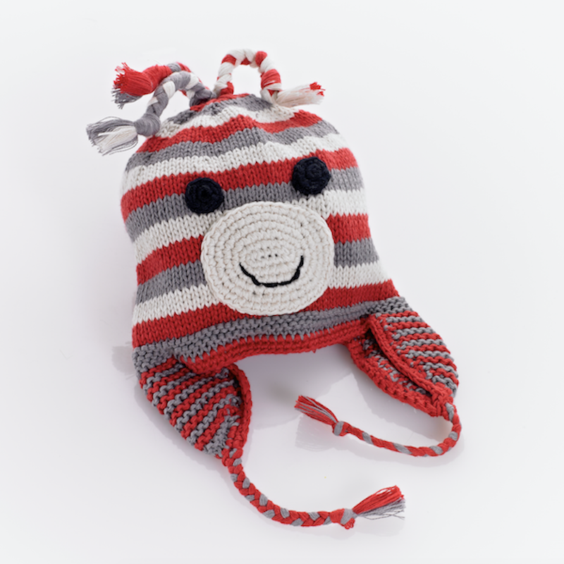 Pebble - Red Monkey Hat