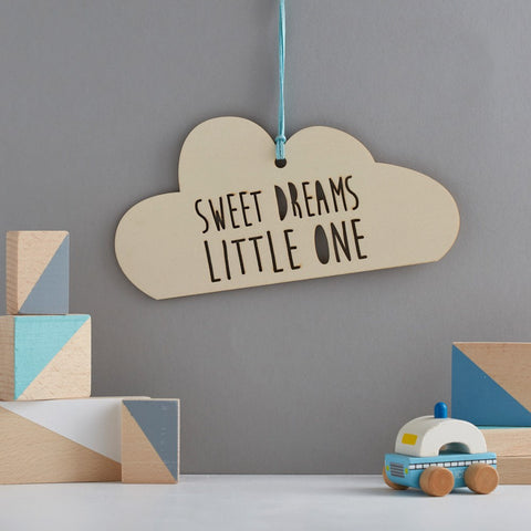 Scamp - Sweet Dreams Little One Cloud Decoration