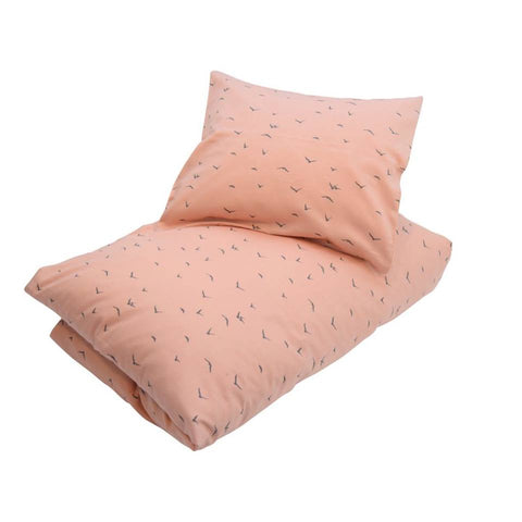 Petit By V - Cot Bed Duvet and Pillowcase in Dusty Rose