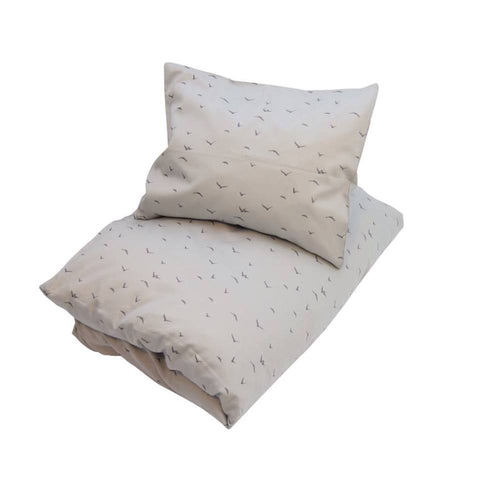 Petit By V - Single Bed Duvet and Pillowcase in Cool Grey