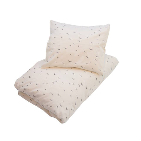Petit By V - Cot Bed Duvet and Pillowcase in Off White