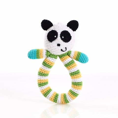 Pebble - Crochet Panda Ring Rattle