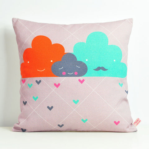 Pink Nounou - Cloud Family Square Pillow