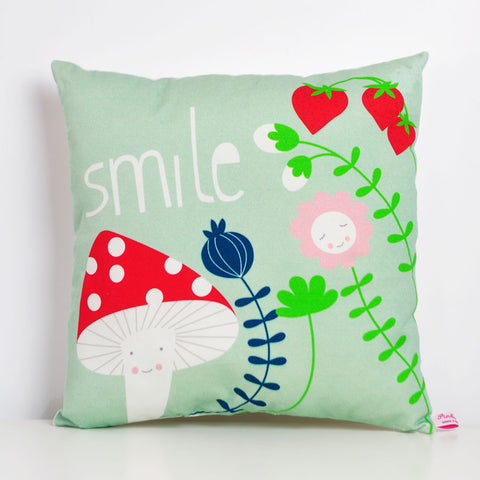 Pink Nounou - Smile Square Pillow