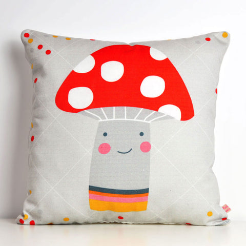 Pink Nounou - Mr Mushroom Square Pillow