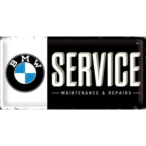 NA Tin Sign 25x50 - BMW Service