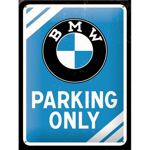 Nostalgic Art - NA Tin Sign 15x20 - BMW Parking Only - Studio Thien