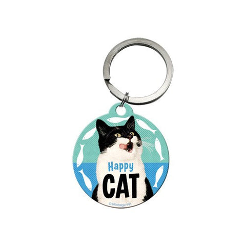 Nostalgic Art - NA Key Chain Round - Happy Cat - Studio Thien