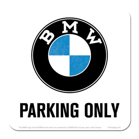 Nostalgic Art - NA Coaster - BMW Parking Only - Studio Thien