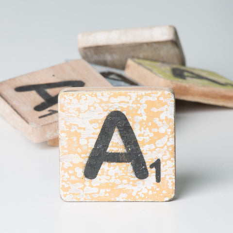 Cotton Counts - Houten deco letter A1 - Studio Thien