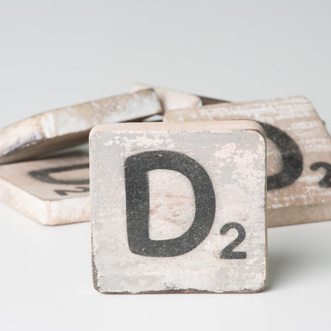 Cotton Counts - Houten deco letter D2 - Studio Thien