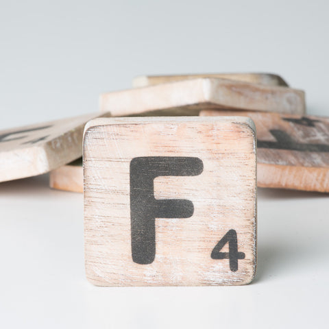 Cotton Counts - Houten deco letter F4 - Studio Thien