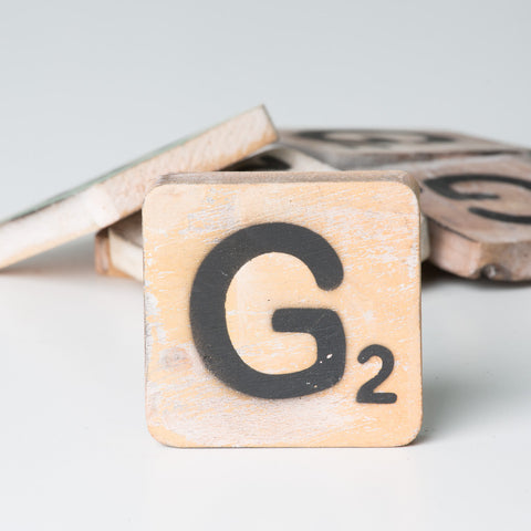 Cotton Counts - Houten deco letter G2 - Studio Thien