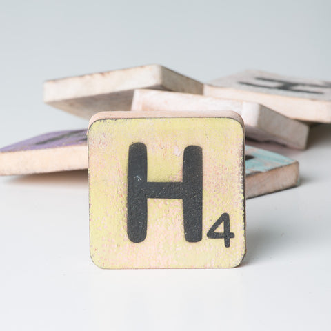 Cotton Counts - Houten deco letter H4 - Studio Thien