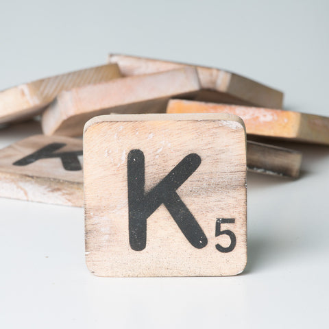 Cotton Counts - Houten deco letter K5 - Studio Thien