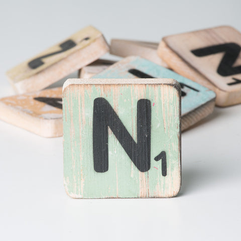 Cotton Counts - Houten deco letter N1 - Studio Thien