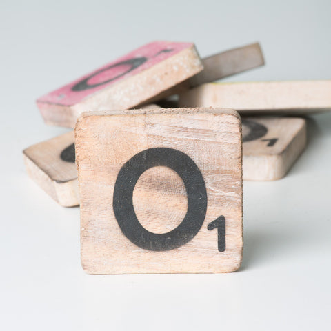Cotton Counts - Houten deco letter O1 - Studio Thien