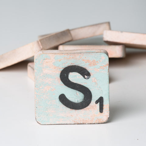 Cotton Counts - Houten deco letter S1 - Studio Thien