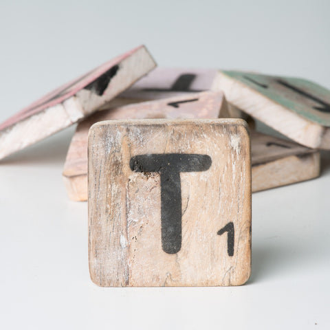 Cotton Counts - Houten deco letter T1 - Studio Thien