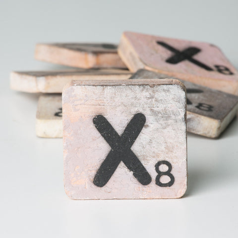 Cotton Counts - Houten deco letter X8 - Studio Thien