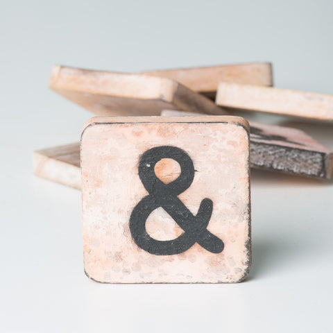 Cotton Counts - Houten deco letter & - Studio Thien