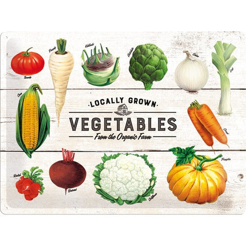 Nostalgic Art - NA Tin Sign 30x40 - Vegetables - Studio Thien