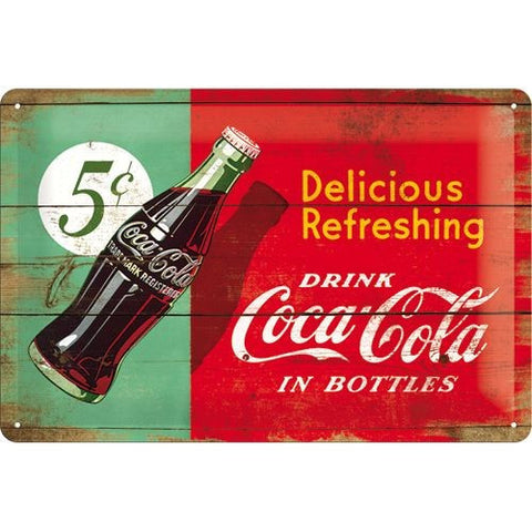 Nostalgic Art - NA Tin Sign 20x30 - Coca-Cola 1950 Beverage red/green Bottle - Studio Thien