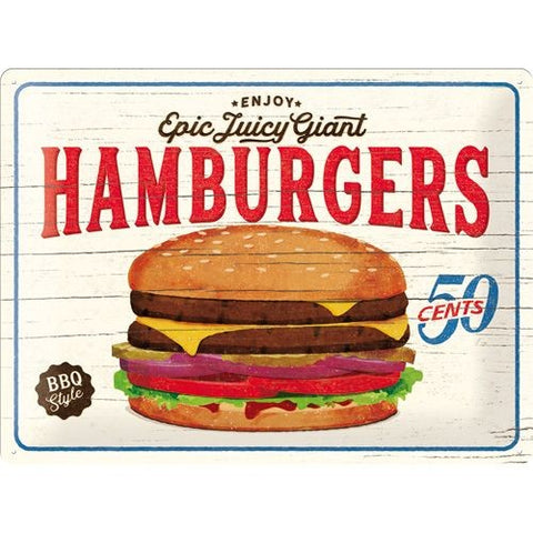 Nostalgic Art - NA Tin Sign 30x40 - Hamburgers - Studio Thien