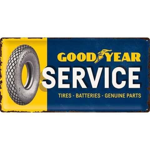 NA Tin Sign 25x50 - GoodYear Service