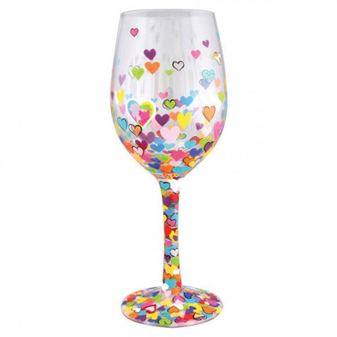 Wine Glass - Hearts-A-Million