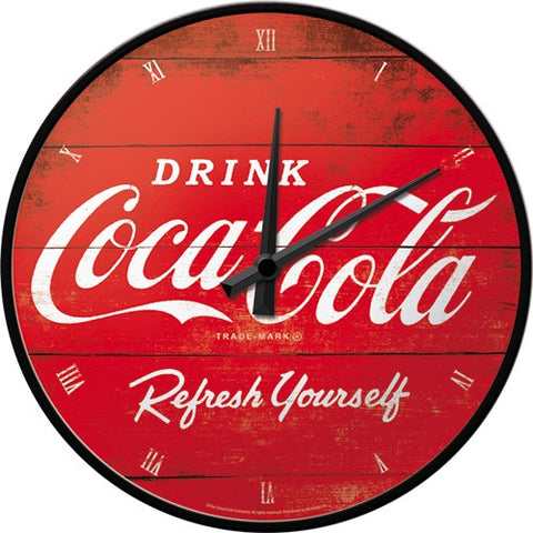 NA Wall Clock - Coca-Cola Refresh