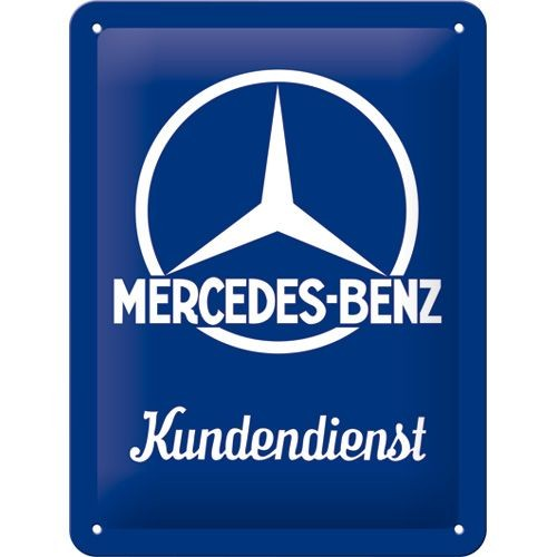 NA Tin Sign 15x20 - Mercedes Kundendienst