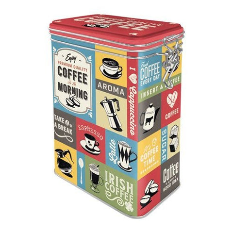 Nostalgic Art - NA Clip Top Box - Coffee Collage - Studio Thien