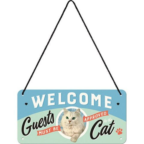 Nostalgic Art - NA Hanging Sign - Welcome Cat - Studio Thien