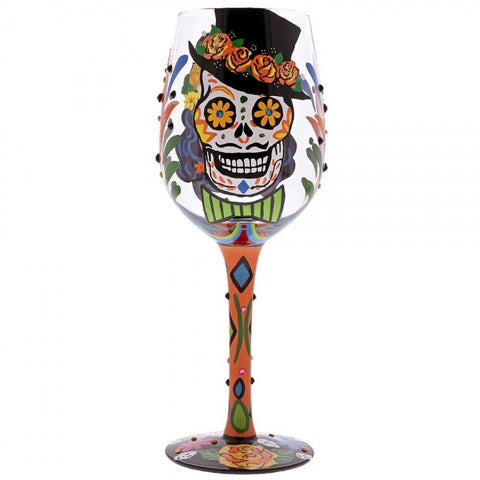 Wine Glass - Sugar Skulls