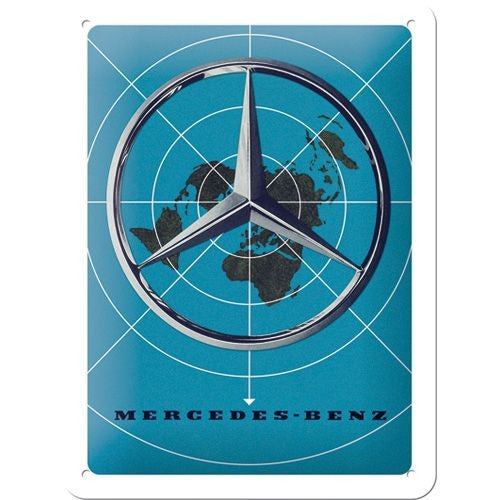 Nostalgic Art - NA Tin Sign 15x20 - Mercedes Blue Map - Studio Thien