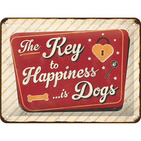 NA Tin Sign 15x20 - Key to Happiness