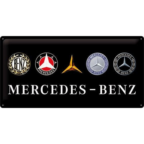 NA Tin Sign 25x50 - Mercedes Logo Evo