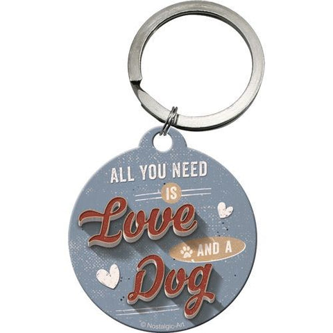 Nostalgic Art - NA Key Chain Round - Love Dog - Studio Thien