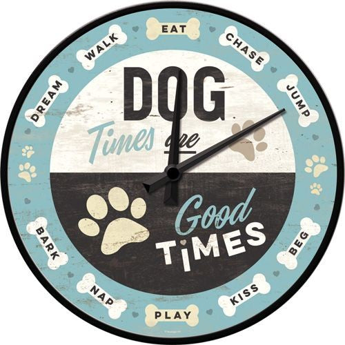 NA Wall Clock - Dog Times