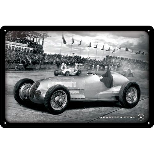 NA Tin Sign 20x30 - Mercedes Silver Arrow Racing