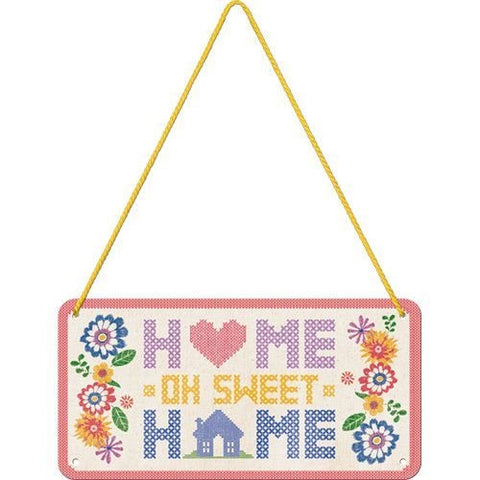 Nostalgic Art - NA Hanging Sign - Home Sweet Home - Studio Thien