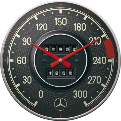 NA Wall Clock - Mercedes Tacho