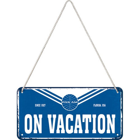 Nostalgic Art - NA Hanging Sign - Pan Am On Vacation - Studio Thien