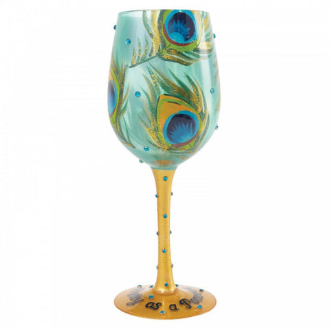 Lolita - Wine Glass - Pretty as a Peacock - Studio Thien