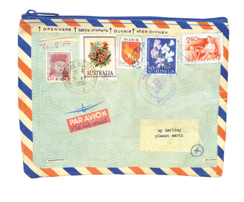 BlueQ - Zipper Pouch - Air Mail - Studio Thien